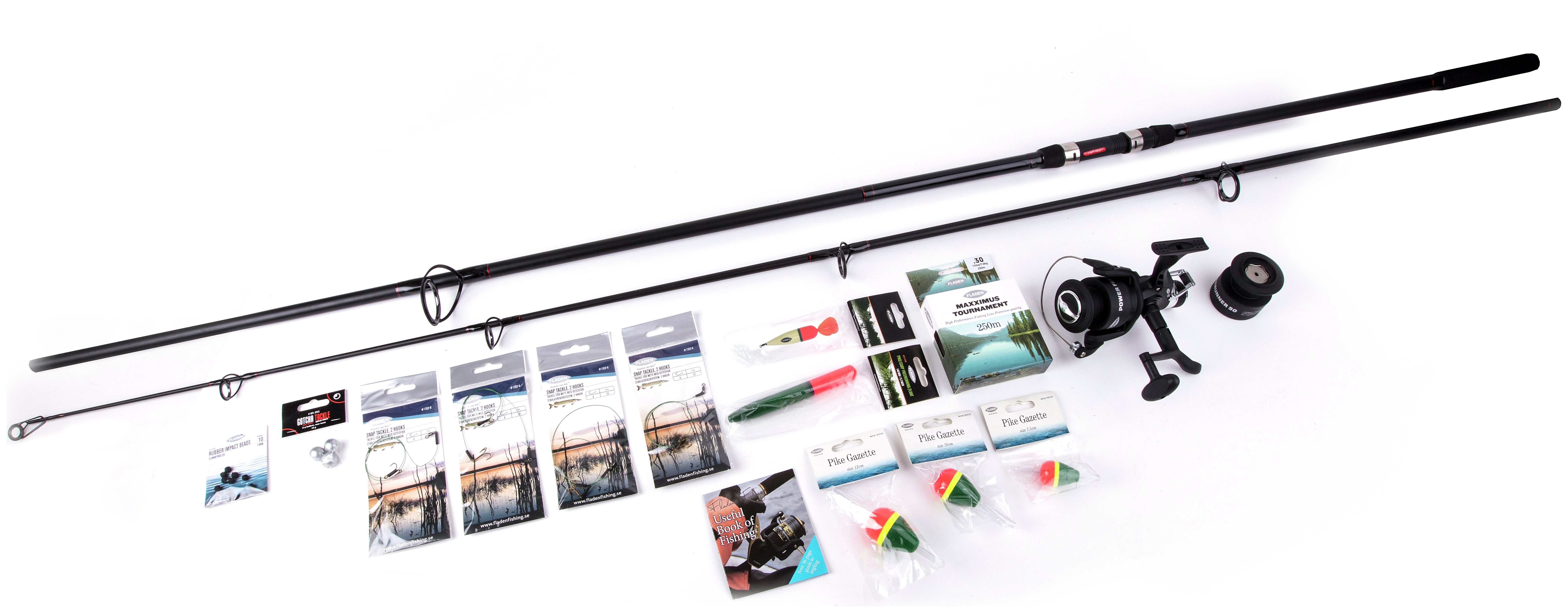 Image of Fladen - 12ft Pike Fishing Rod & Reel Set & Accessories