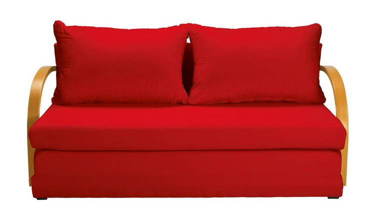 Argos Home Fizz 2 Seater Fabric Sofa Bed - Red