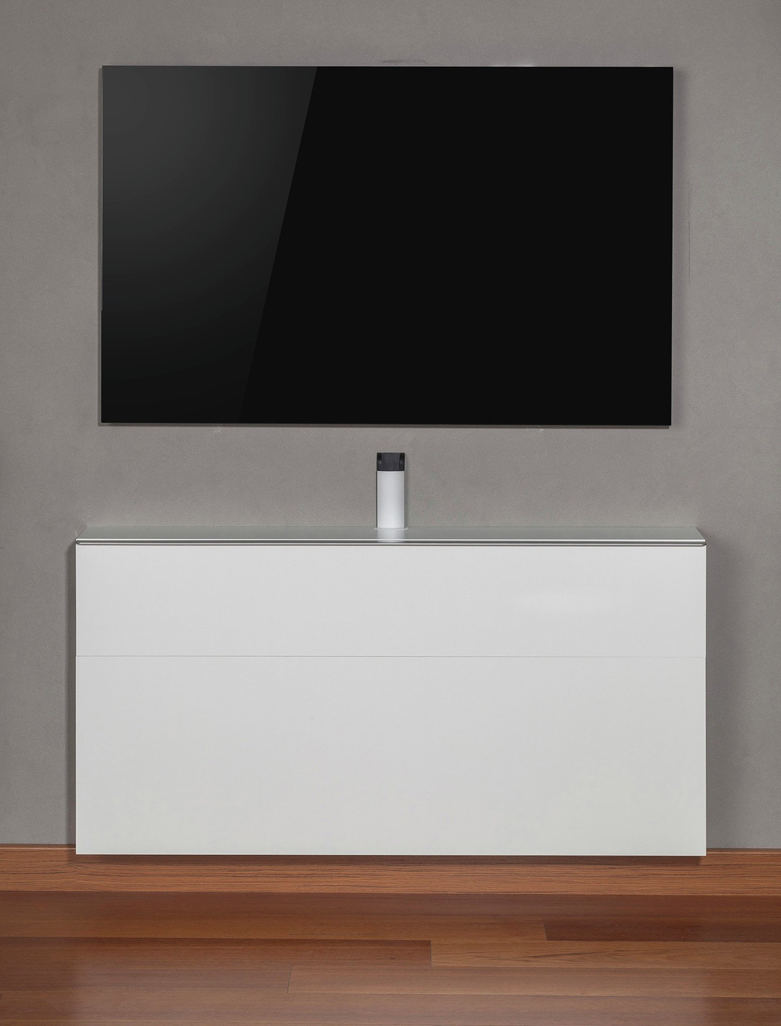 sonorous space saving wall mounted media cabinet white