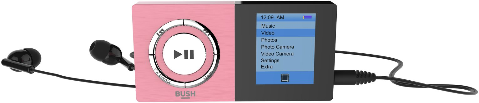 Bush Bush KW-MP04C 8GB Camera MP3/Video Player - Pink.