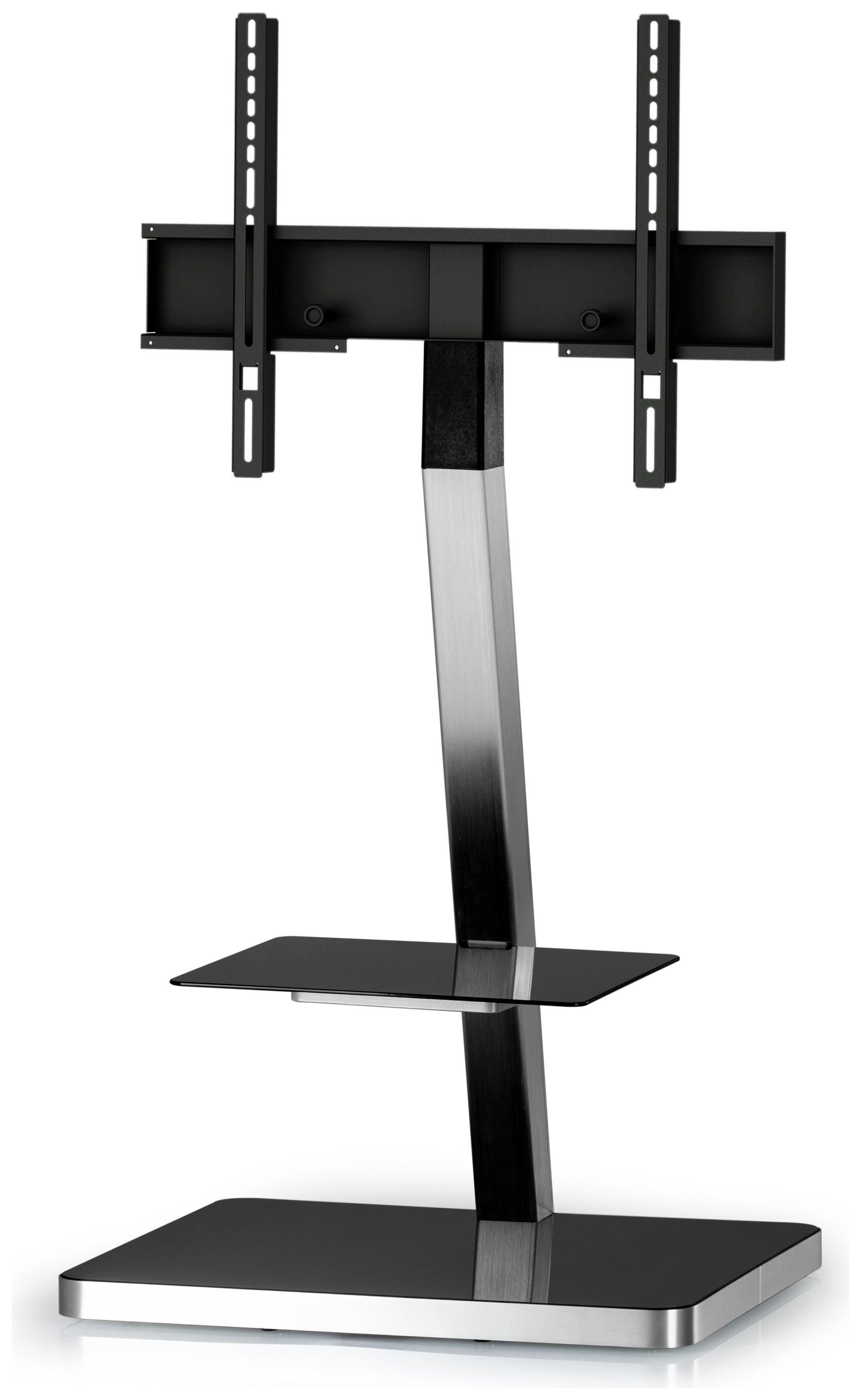 Sonorous Up to 50 Inch TV and Media Stand - Black and Silver