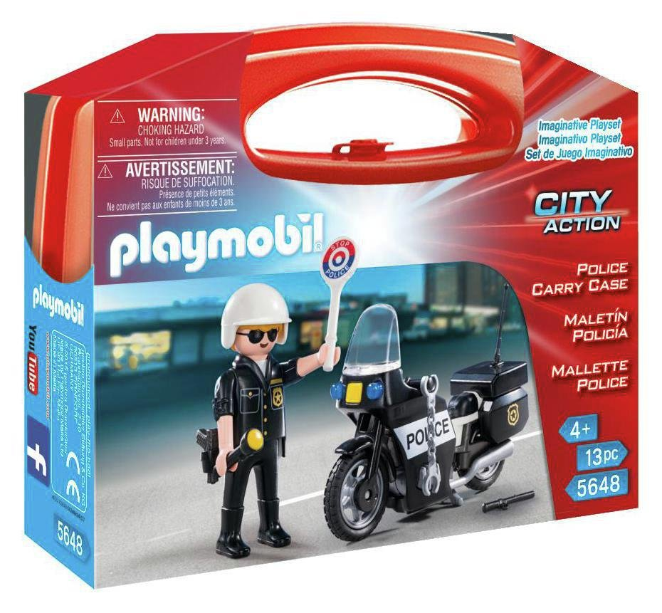 playmobil  5648 police carry case playset