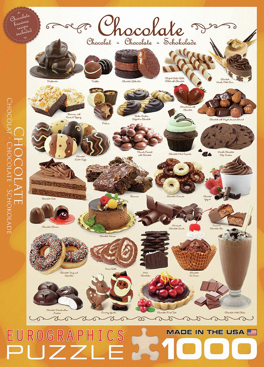 Image of Eurographics - 1000 Piece - Chocolate Puzzle.