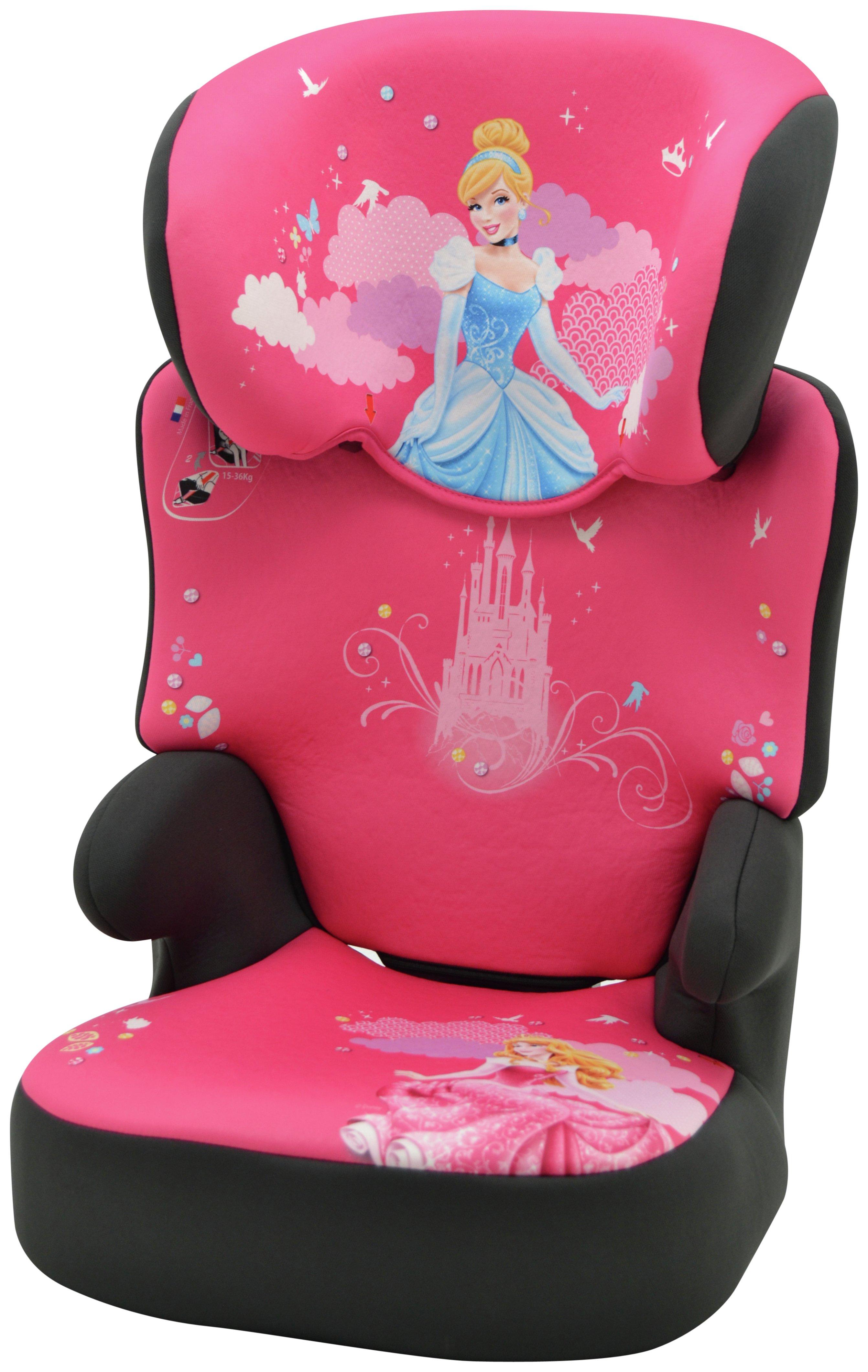 Disney Princess Groups 2/3 High Booster Car Seat - Black
