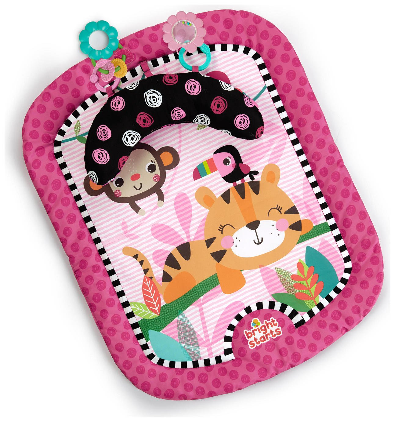 Image of Bright Starts Flutter Friend Play Mat - Pink