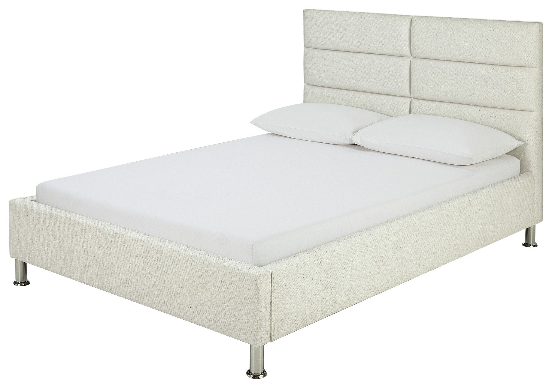 Buy Hygena Bounty White Bed Frame Double Limited Stock Home And