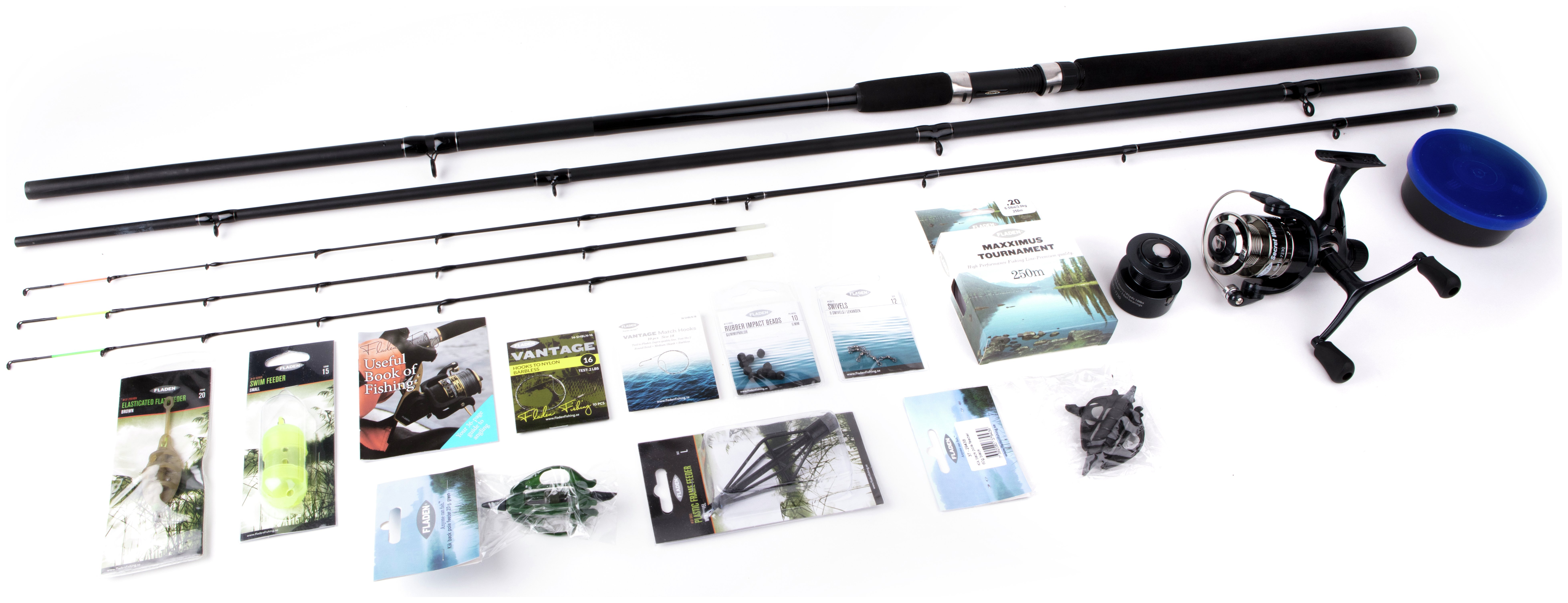 Fladen 10ft Feeder Leger Rod and Reel Set with Accessories