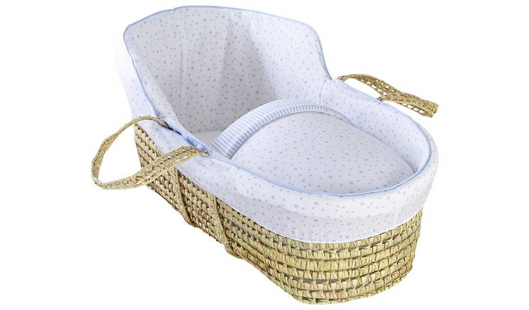 Clair De Lune Moses Basket Wicker With Stand Online Shop Nursery Furniture Bassinets & Cradles