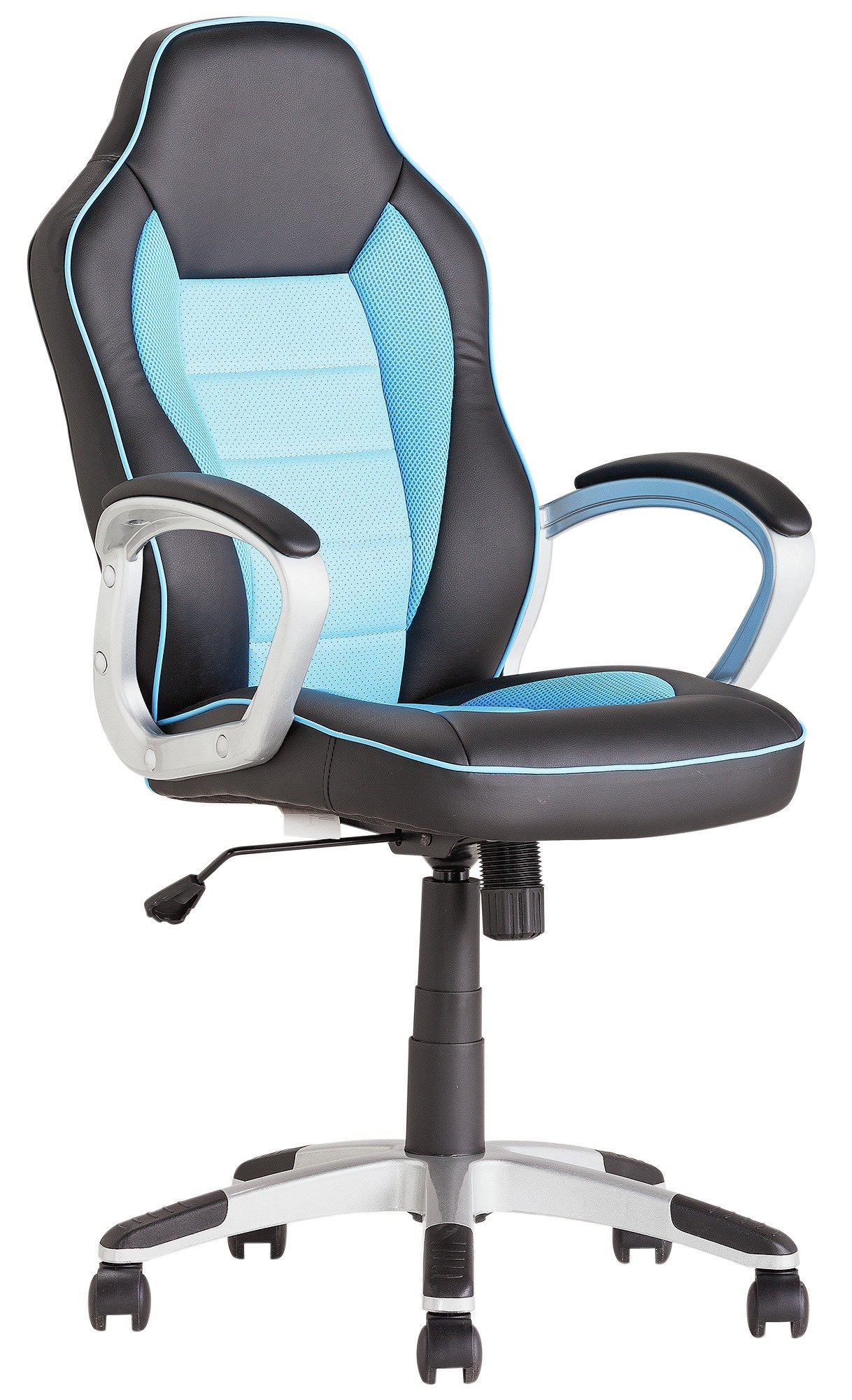buy home racing style office gaming chair - blue at argos.co.uk