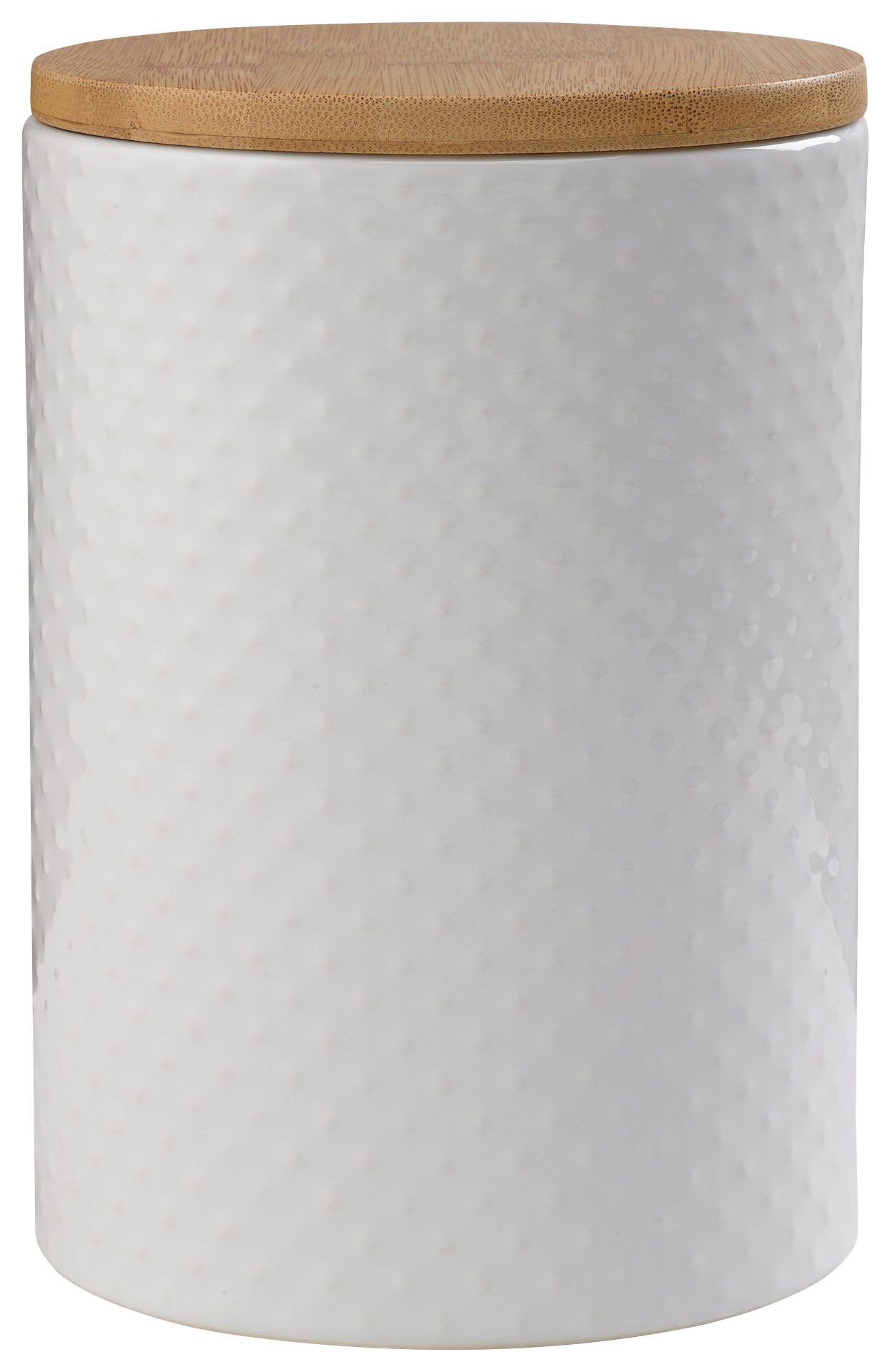 Heart of House - Veda Textured Biscuit Jar - White