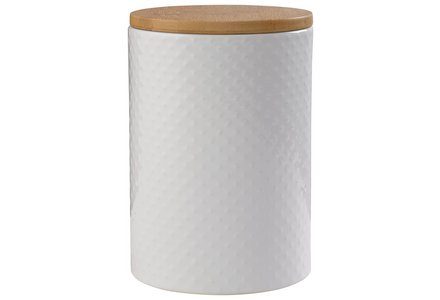 Heart of House Veda Textured Biscuit Jar - White