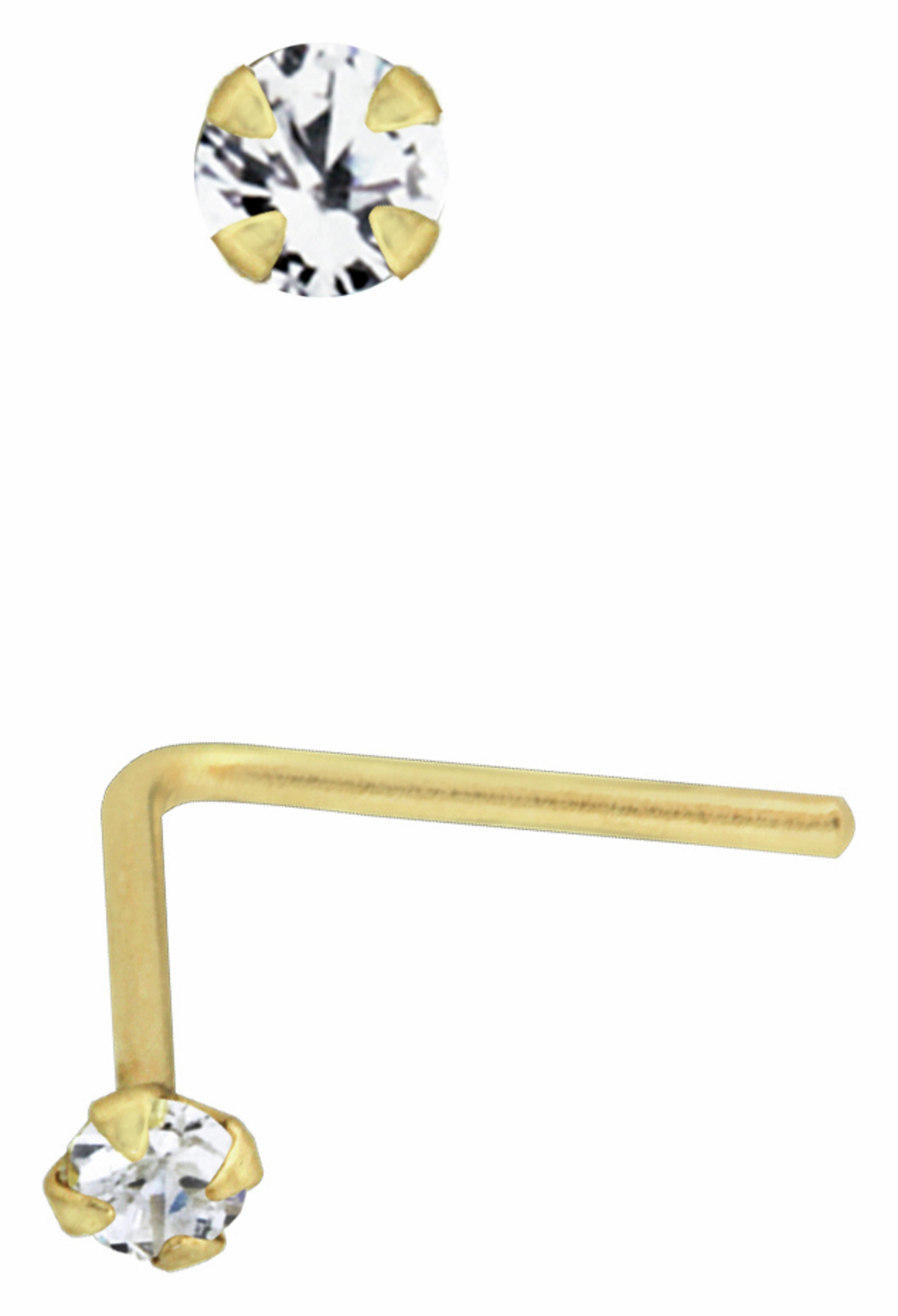 Buy State of Mine 9ct Gold Diamond Accent Nose Stud at Argos