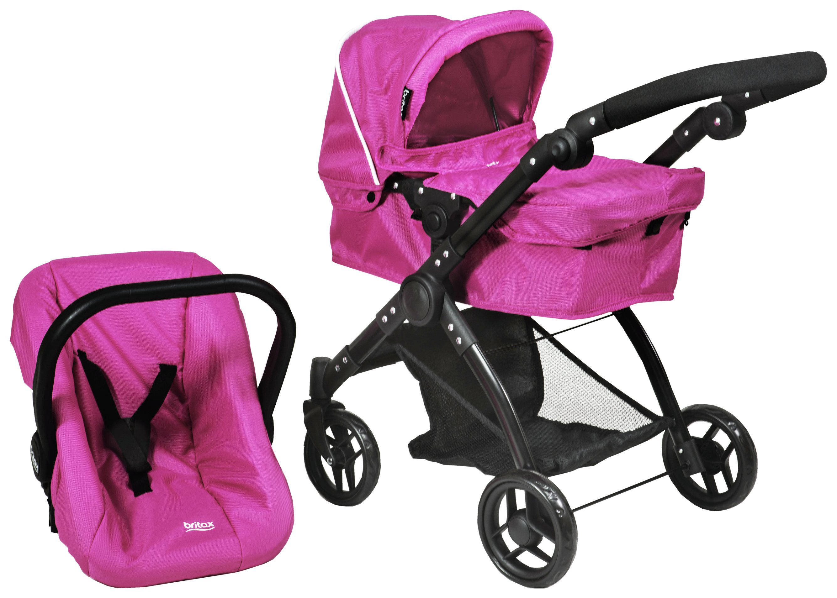 Image of Britax Smile 3 In 1 Dolls Stroller - Hot Pink.