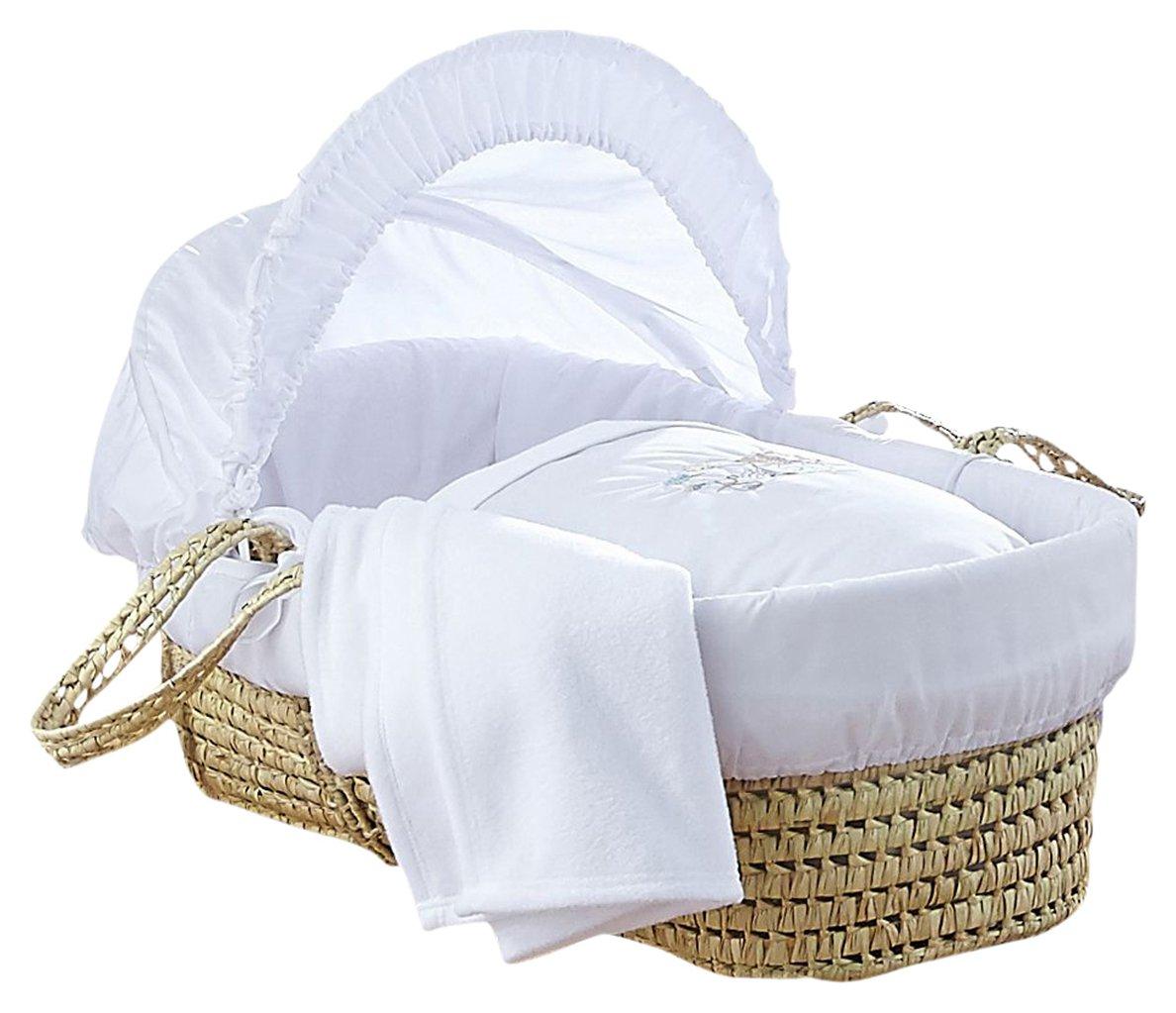 Image of Clair De Lune Baby Palm Moses Basket.