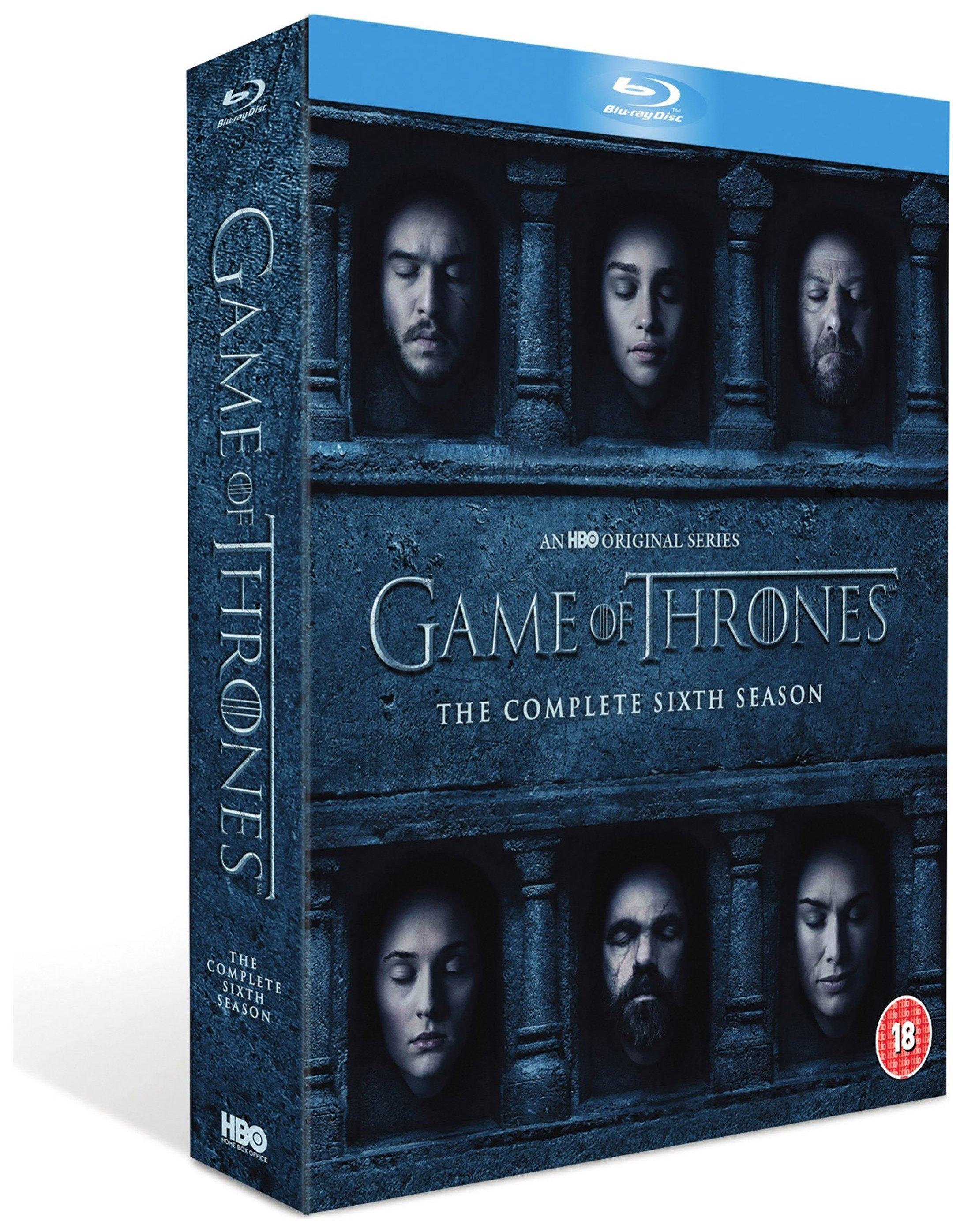 HBO Game of Thrones Season 6 Blu-ray DVD Boxset.