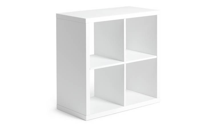 online retailer 89928 98302 Buy Argos Home Squares Plus 4 Cube Storage Unit - White Gloss | Storage  units and drawers | Argos