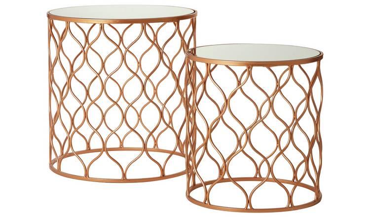 Buy Premier Housewares Avantis Nest Of 2 Tables Bronze Frame Nest Of Tables Argos