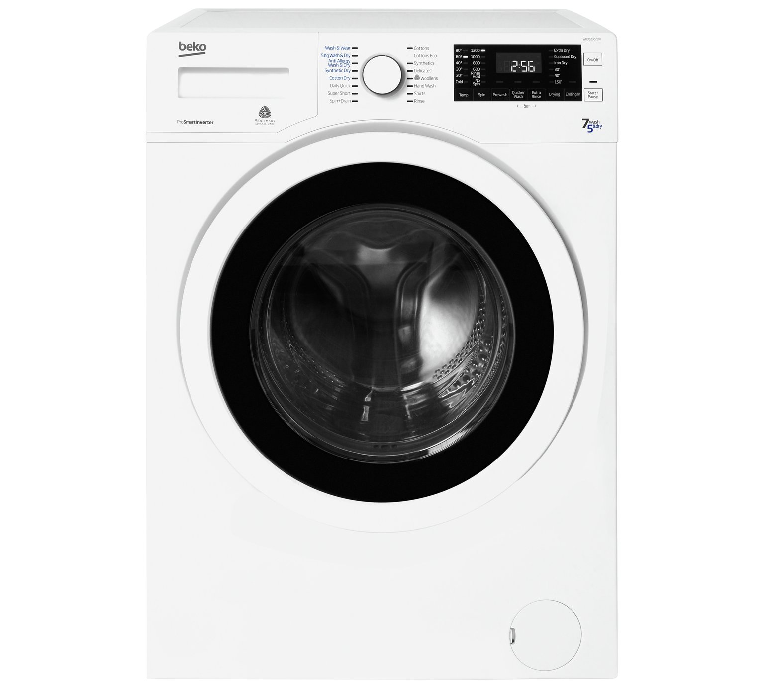 Beko WDJ7523023W 7KG / 5KG 1200 Spin Washer Dryer - White