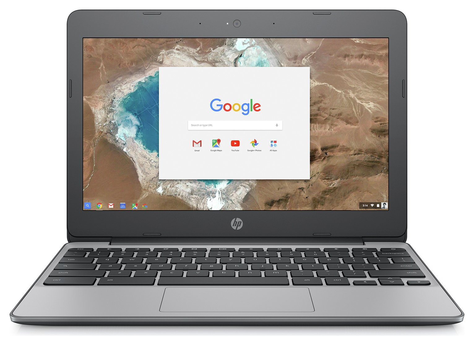Image of HP 11.6 Inch Intel Celeron 2GB 16GB Chromebook - Grey