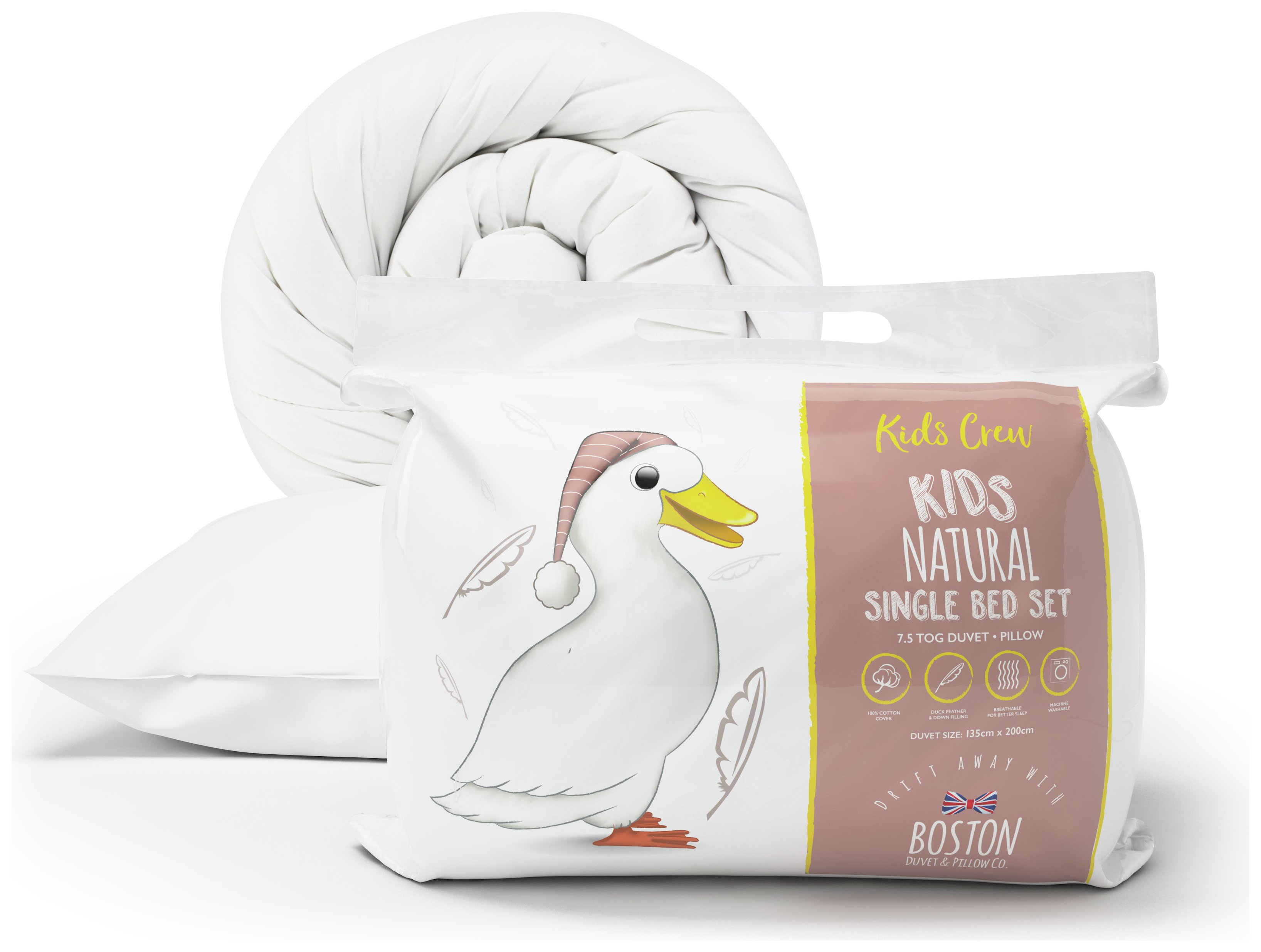Image of Boston Kids - Crew Duck Feather Down 75 Tog - Duvet Set