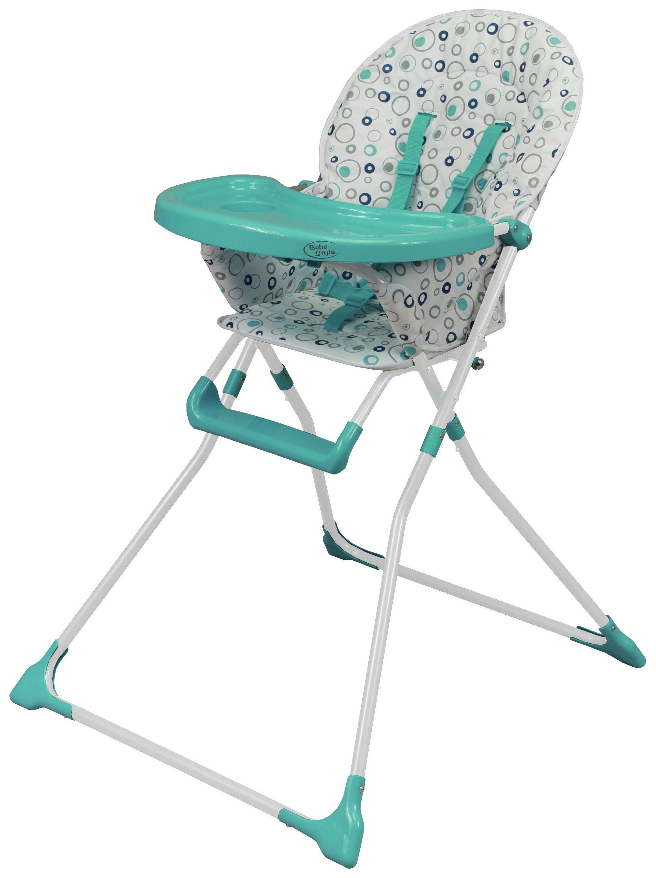 Image of BeBe - Fold Ez 123 - Highchair - Blue Bubbles