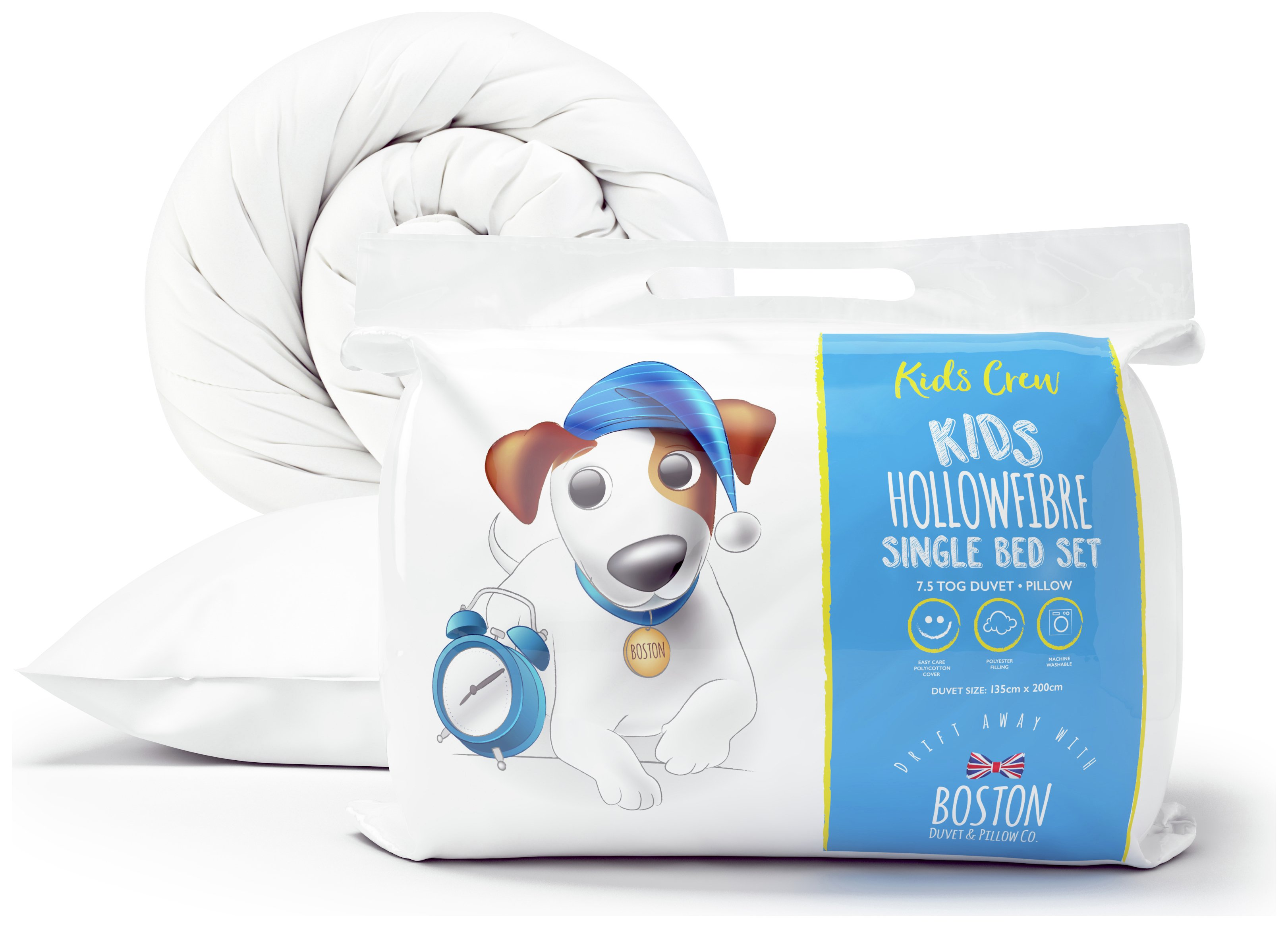 Boston Kids Crew 7.5 Tog Duvet and Pillow Set