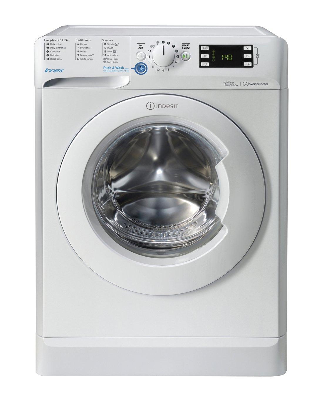 Image of Indesit BWE91484X 9KG Washing Machine - White.