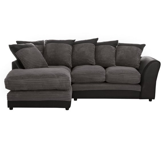 Buy Home Harley Regular Fabric Left Hand Corner Sofa