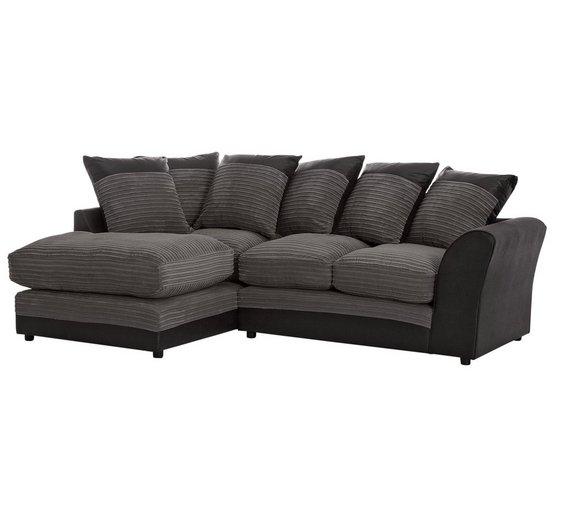 Buy Home Harley Regular Fabric Left Hand Corner Sofa