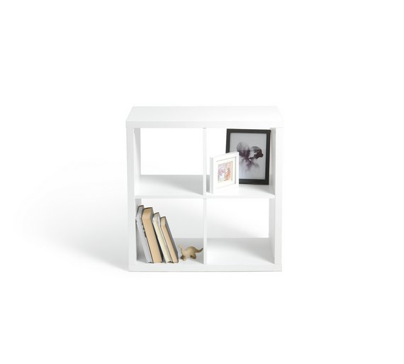 buy hygena squares plus 4 cube storage unit white at. Black Bedroom Furniture Sets. Home Design Ideas
