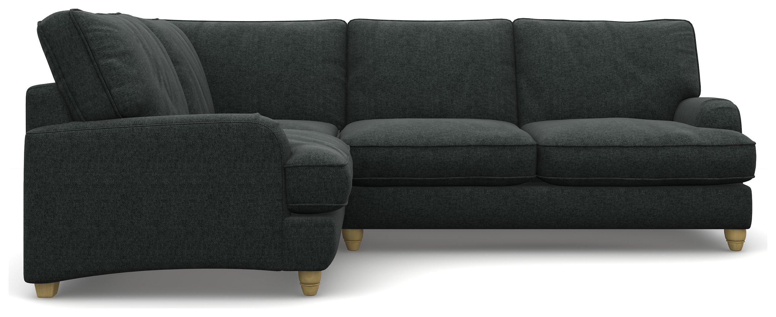 Heart of House Adeline Tweed Fabric LH Corner Sofa -Charcoal