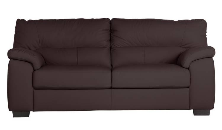 Excellent Buy Argos Home Piacenza 3 Seater Leather Sofa Walnut Sofas Argos Home Interior And Landscaping Ponolsignezvosmurscom