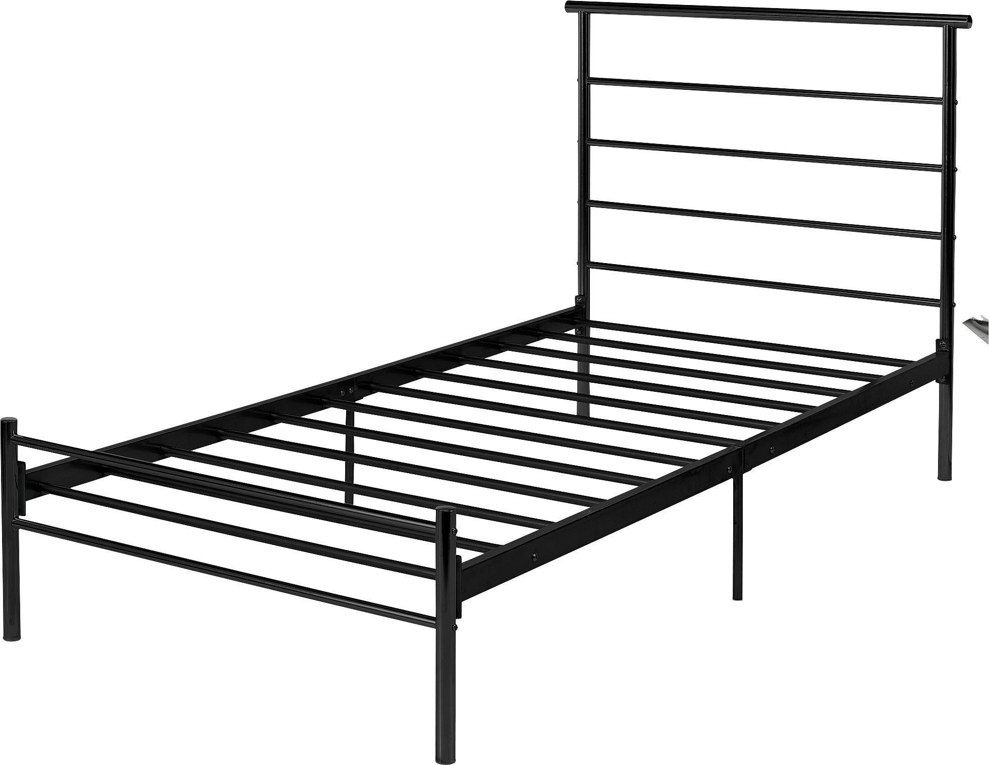 Buy HOME Avalon Single Bed Frame Black at Argoscouk Your