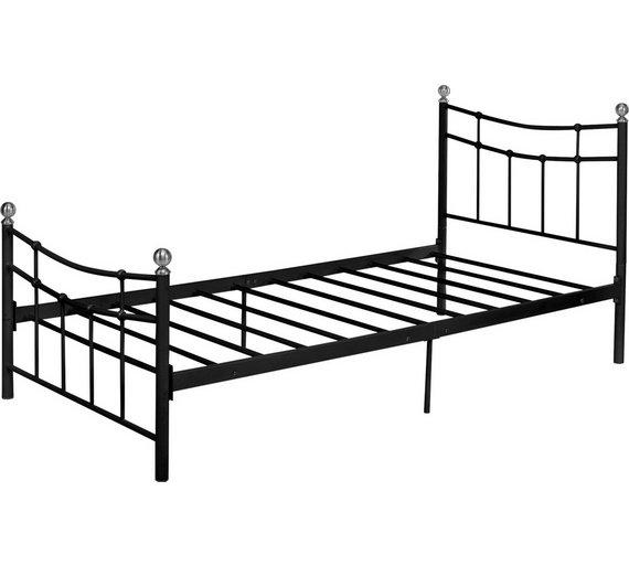 Buy HOME Darla Single Bed Frame - Black | Bed frames | Argos