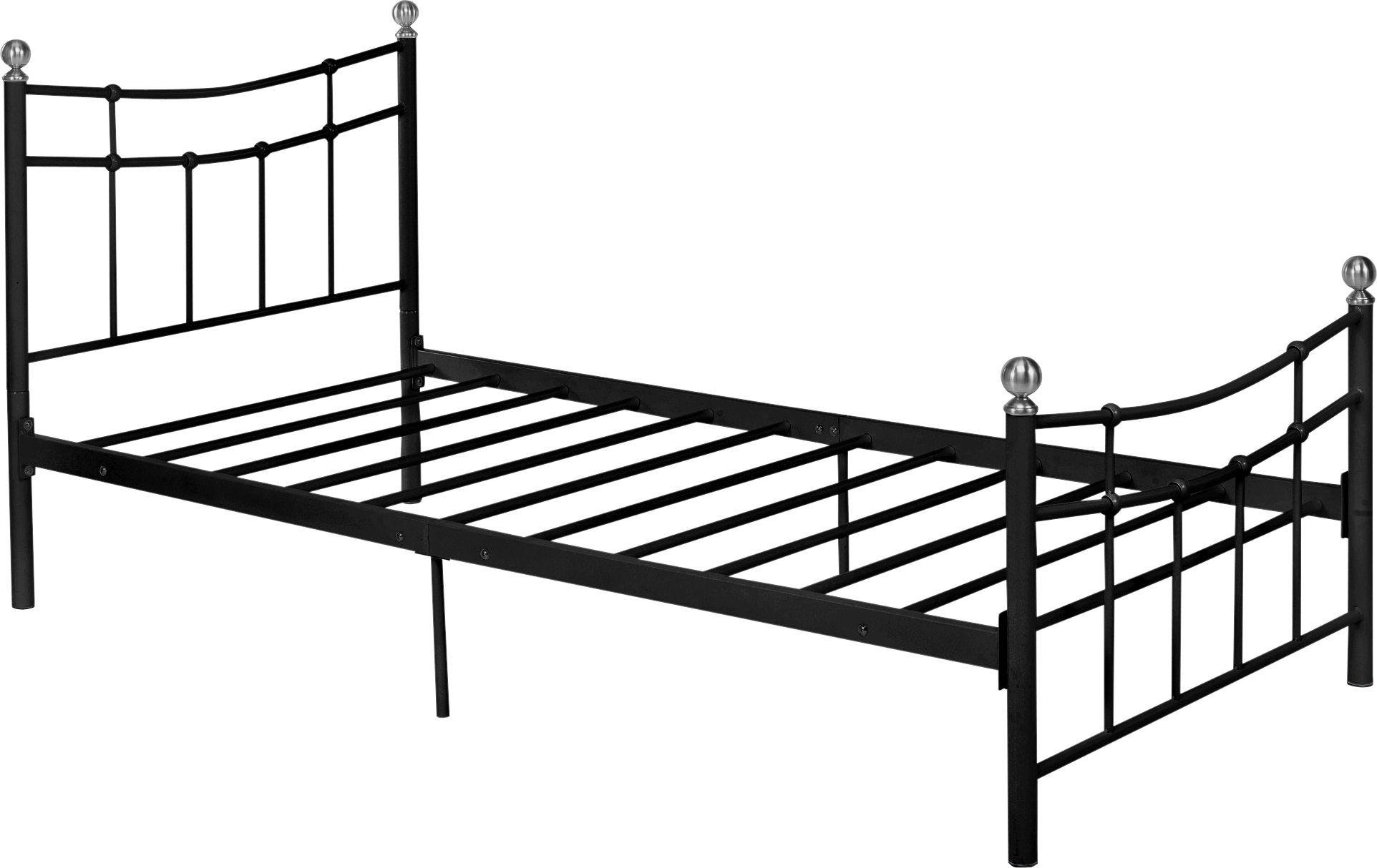 Buy HOME Darla Single Bed Frame Black at Argoscouk Your