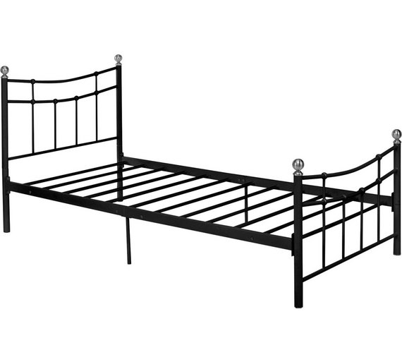 home darla single bed frame black6342803 - Single Bed Frame