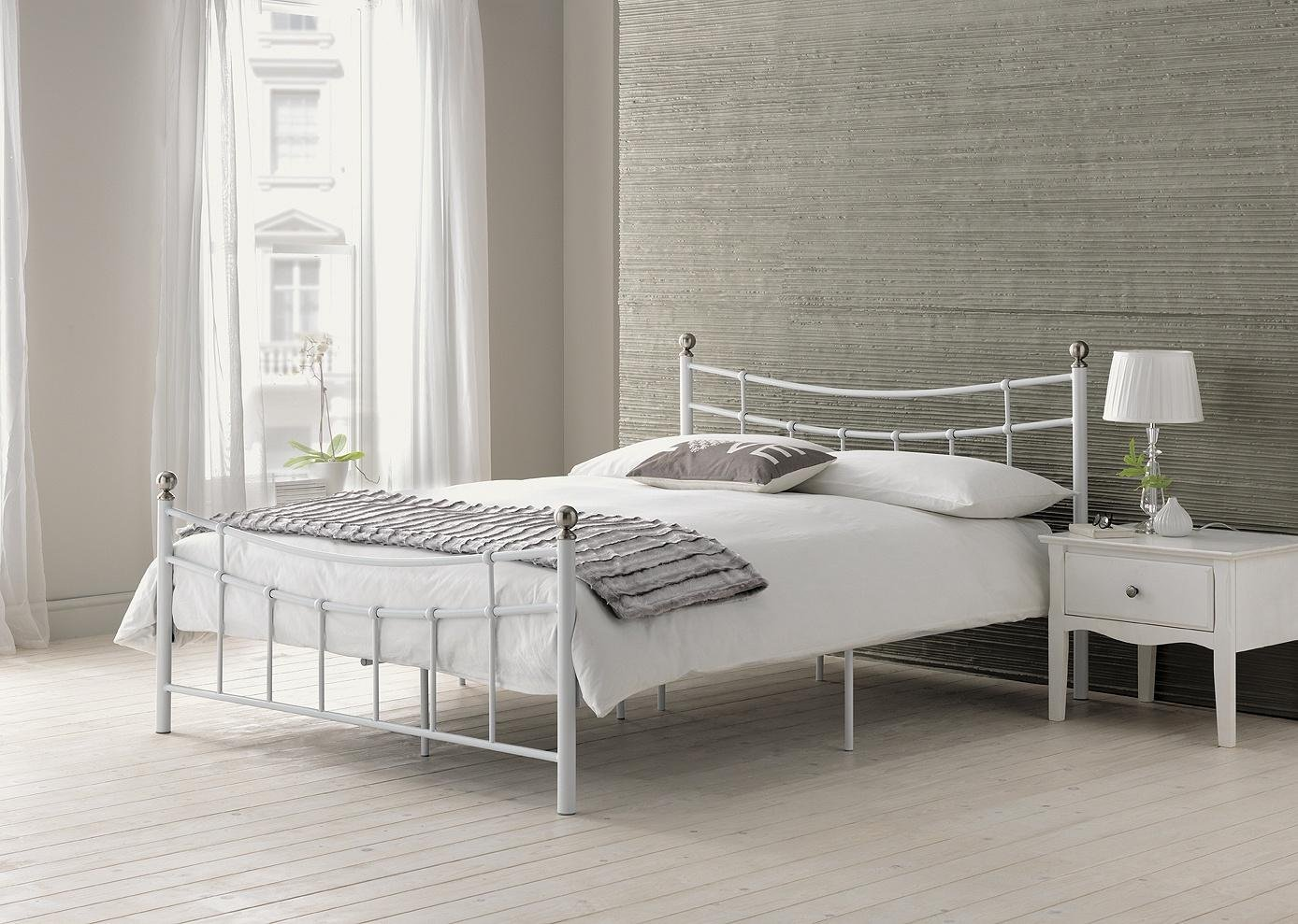 Buy HOME Darla Single Bed Frame White at Argoscouk Your