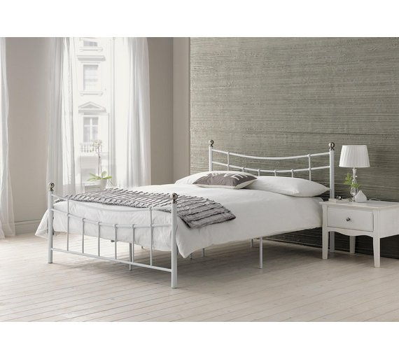 Buy home darla single bed frame white at your online shop for bed frames beds Home furniture single bed