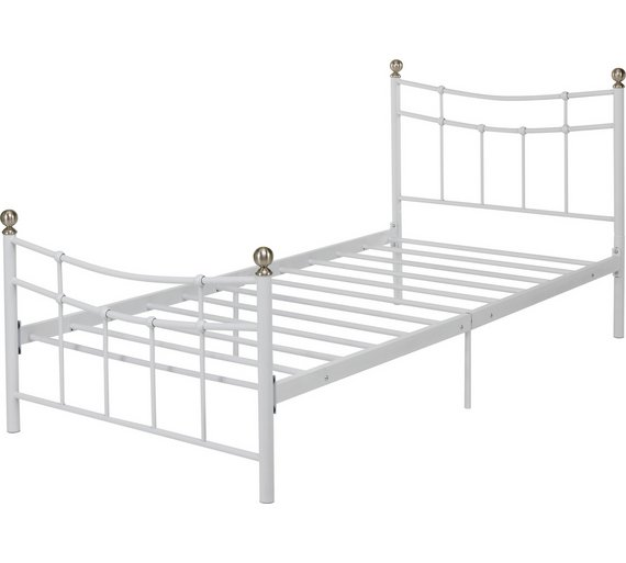 Buy Argos Home Darla Single Bed Frame - White | Bed frames | Argos