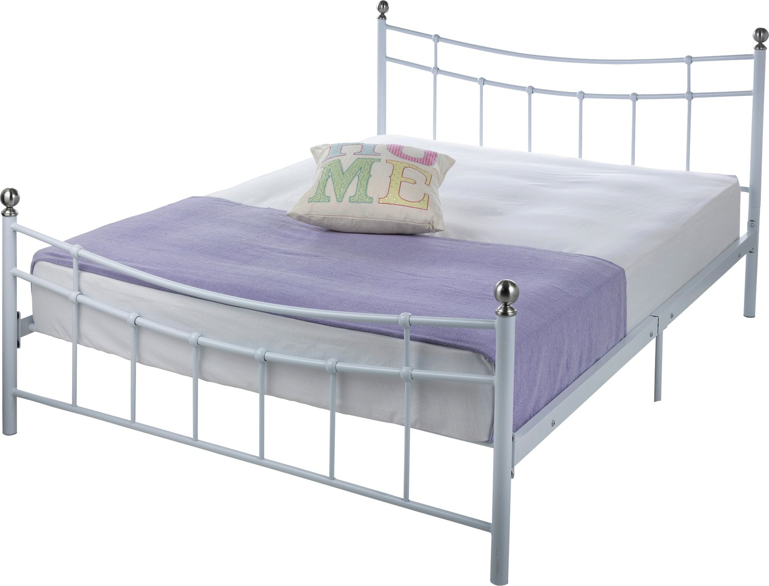 Buy HOME Darla Double Bed Frame White at Argoscouk Your