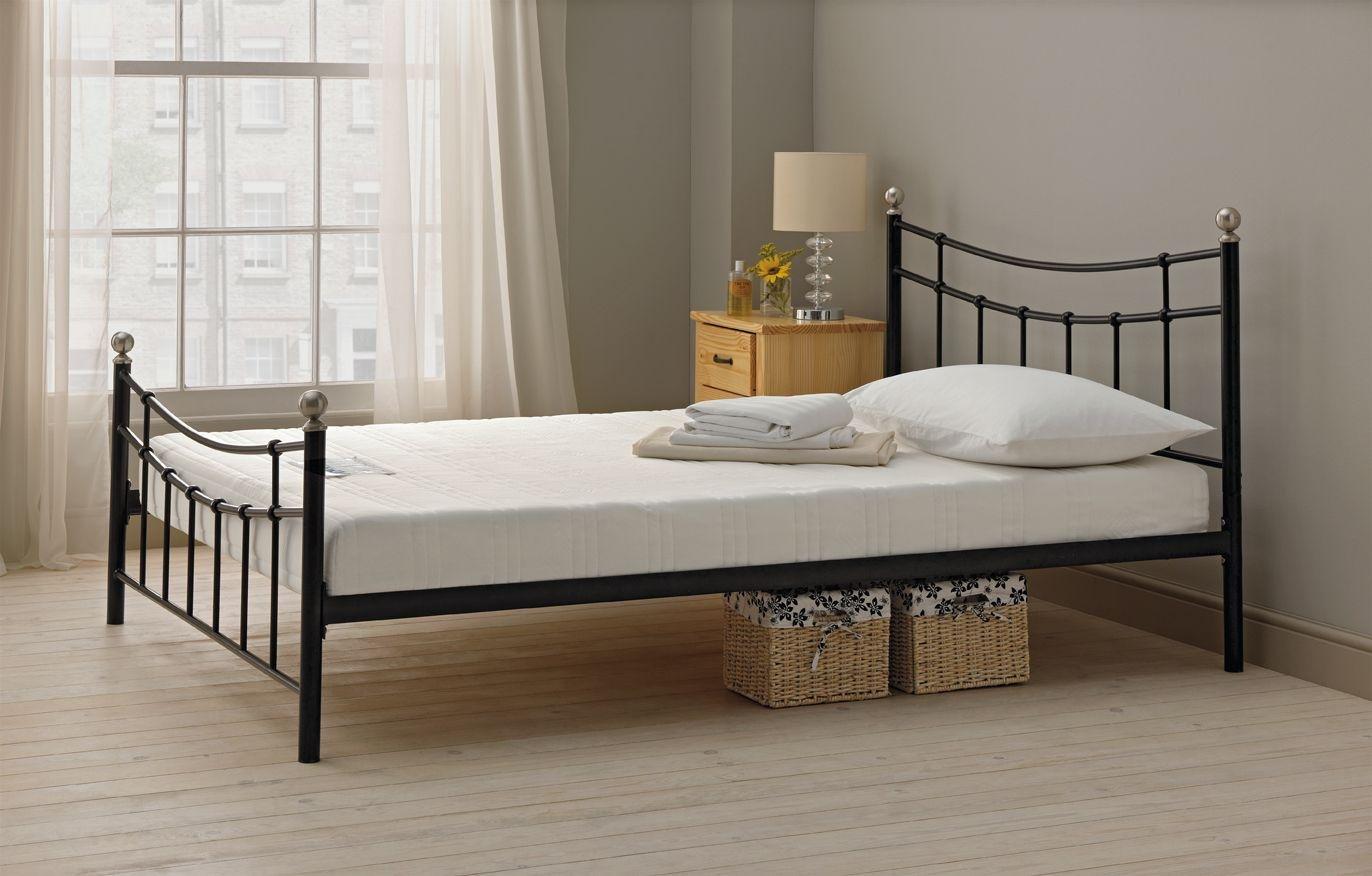 Buy HOME Darla Kingsize Bed Frame Black at Argoscouk Your