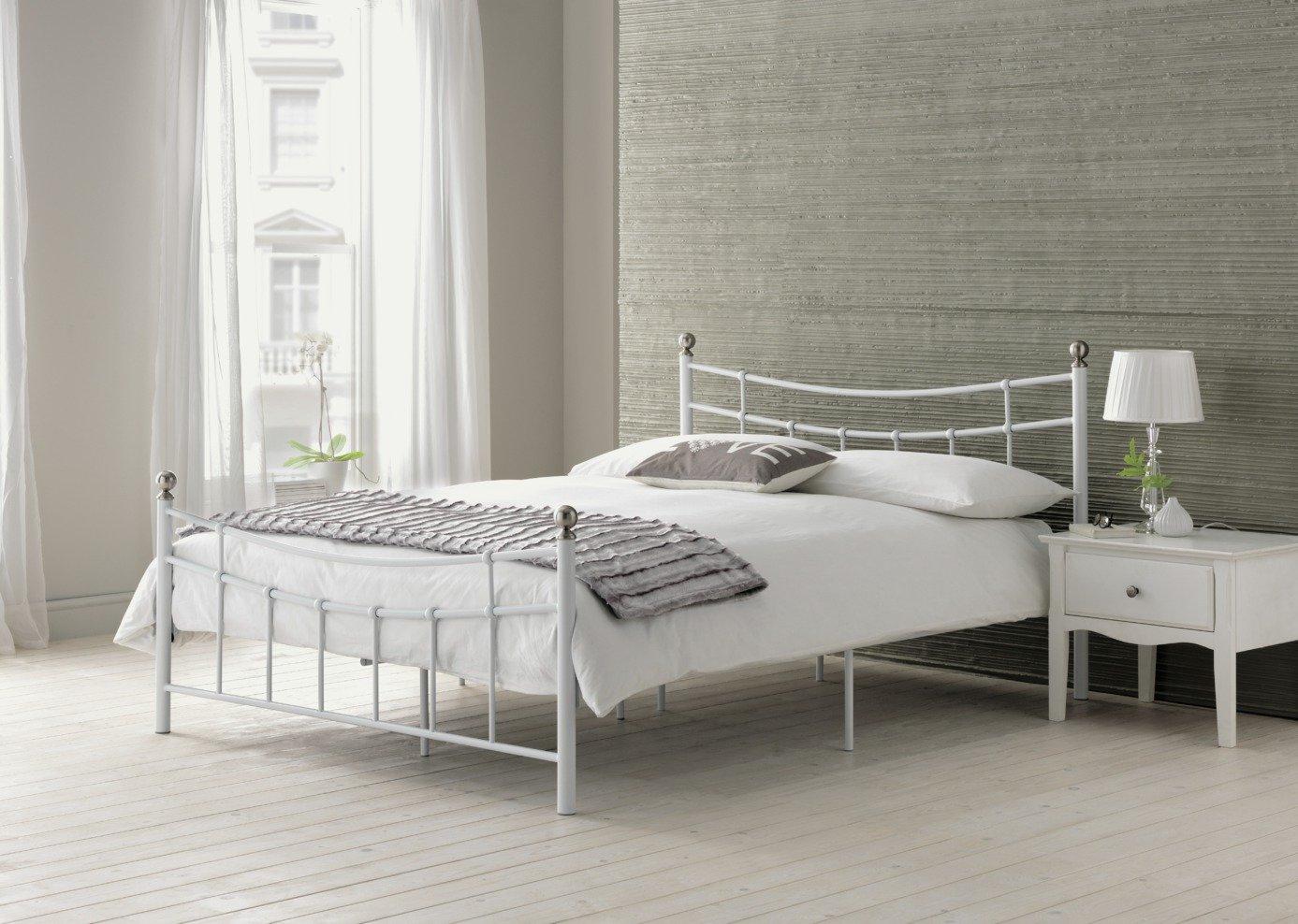 Buy HOME Darla Kingsize Bed Frame White at Argoscouk Your
