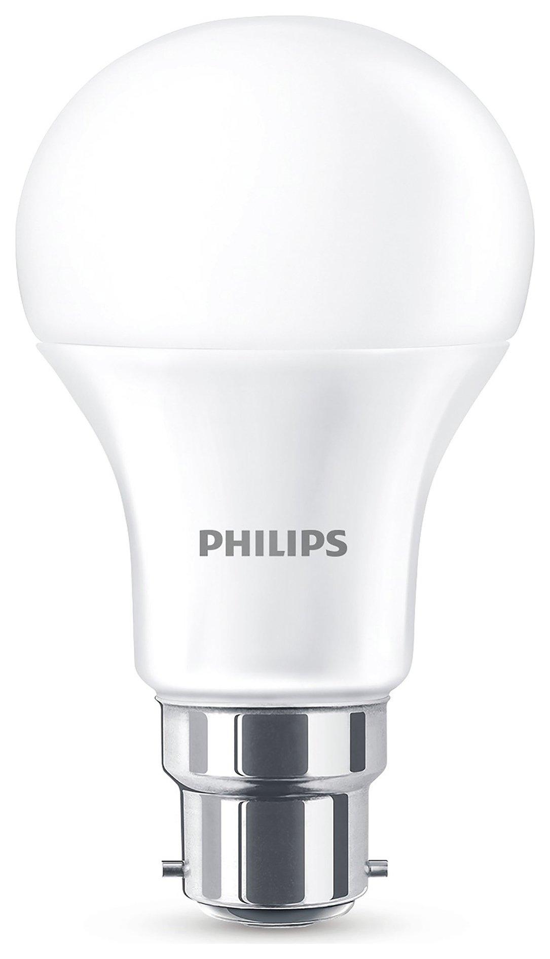 Philips 11W (75W) A60 LED BC Bulbs - 6 pack