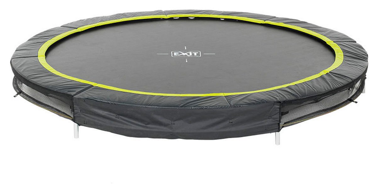 Image of EXIT - 12ft Black Edition Ground - Trampoline