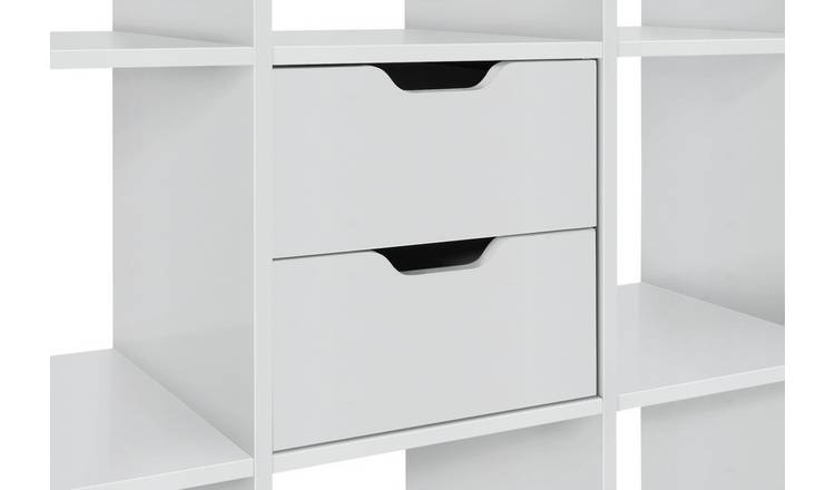 Habitat Squares Plus Set of 2 Drawers - White Gloss