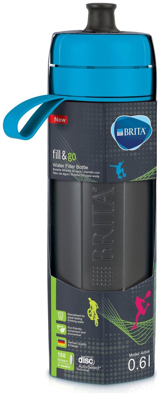 BRITA Fill & Go Active 0.6L Water Bottle - Blue