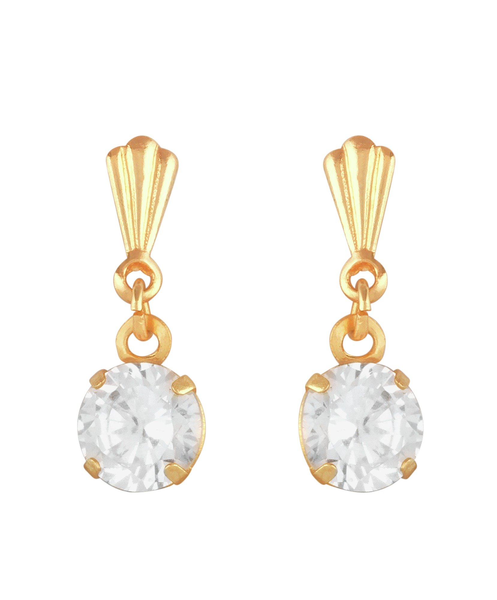 Image of Andralok 9ct Cubic Zirconia Drop Earrings
