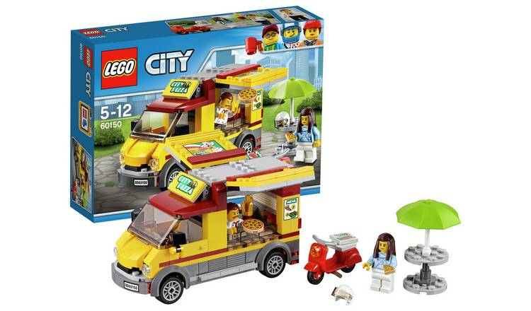 Details about LEGO City Pizza Van - 60150 Fresh Pizzas And Delivering Them  On The Scooter _UK
