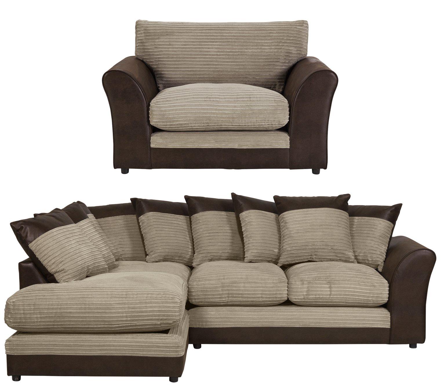 Argos Corner Sofa Jumbo Cord: SALE On HOME Harley Large Left Hand Corner Sofa And Chair