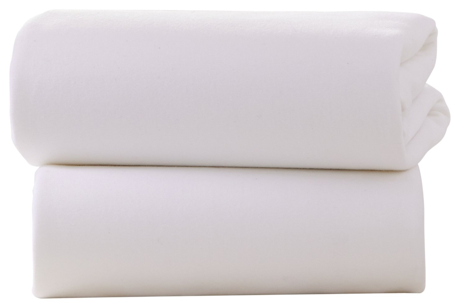 Image of Claire de Lune - 2 Pack Fitted Pram/Crib Sheets - White